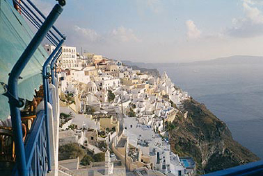 View of Greek island of Santorini